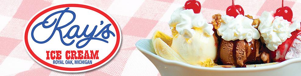 Ray's Ice Cream in Royal Oak, MI banner