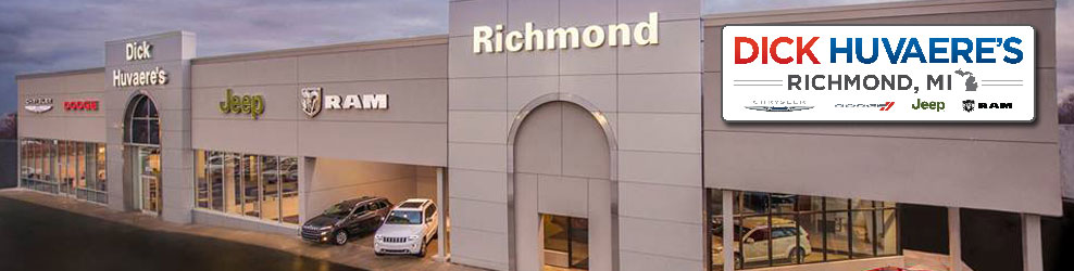 Dick Huvaere's Richmond Chrysler Dodge Jeep Ram banner