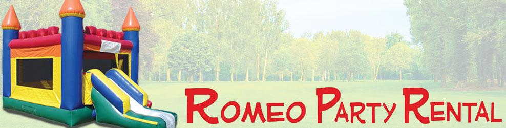 Romeo Party Rental in Romeo, MI banner