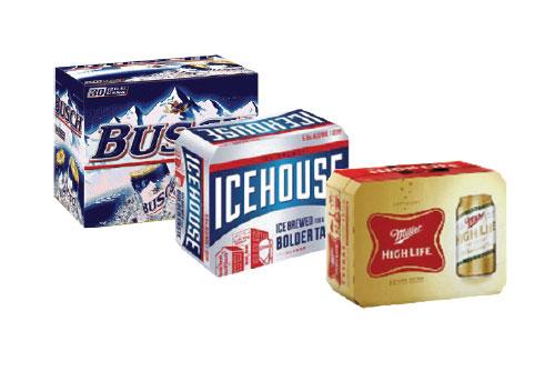 $14.99 Each Busch, Miller H.L., Ice House, PBR at Dundee Exxon