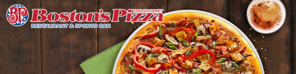 Boston's - The Gourmet Pizza in Shelby Twp., MI banner