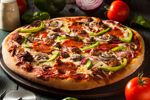 "$19.99 16"" 3-Topping Pizza at Pizza Man"
