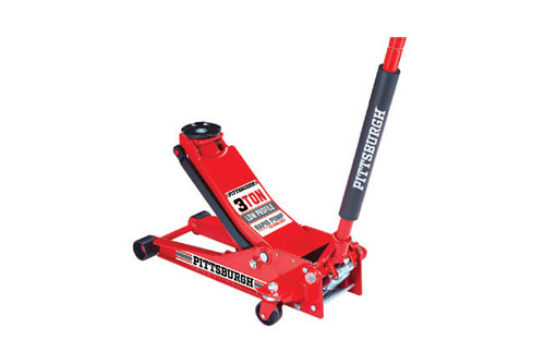 $89.99 Pittsburgh Rapid Pump 3 Ton Steel Heavy Duty Low Profile Floor Jack at Harbor Freight