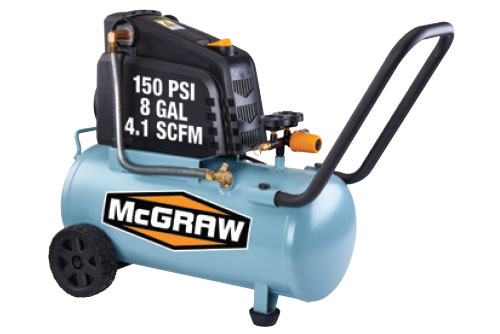 $119.99 McGraw 8 Gallon 150 PSI Oil Free Air Compressor at Harbor Freight