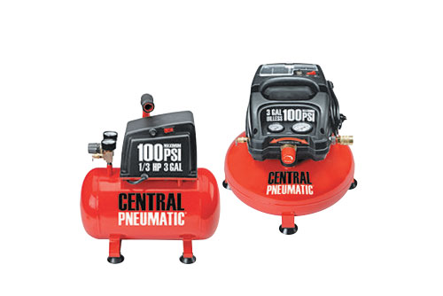 $39.99 Central Pneumatic 3 Gallon 100 PSI Oil-Free Air Compressors at Harbor Freight