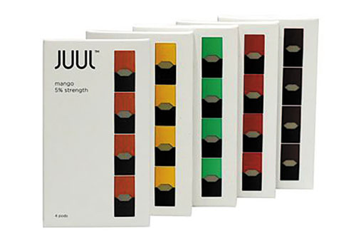 $14.99 Juul 5% Menthol & Virginia Tobacco 4pk. Package at Dundee Exxon